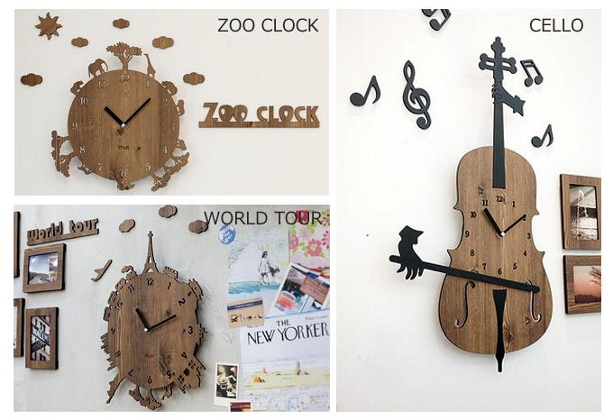 【HANDMADE】壁掛け時計_CELLO_ZOO_WORLDTOUR.jpg