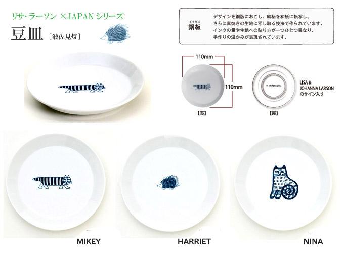 リサ・ラーソン波佐見焼豆皿.jpg