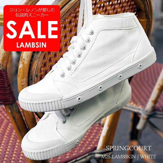 SPRINGCOURT スプリングコート スニーカー LAMBSKIN WHITE SALE.jpg