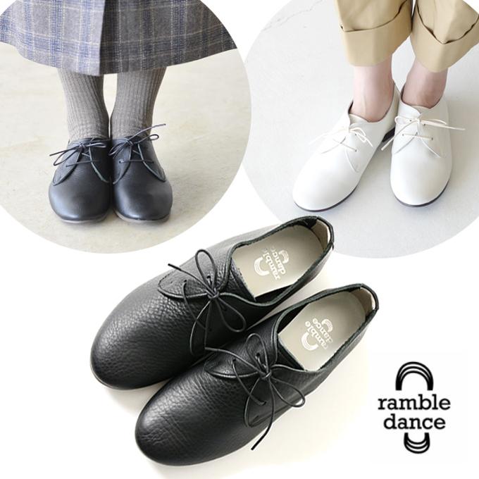 ramble dance シュリンクレザーレースアップシューズ 日本製.jpg
